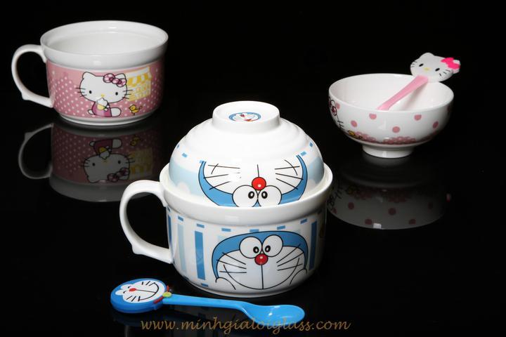 Bộ tô chén Doremon-Kitty XD1010